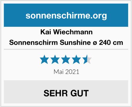 Kai Wiechmann Sonnenschirm Sunshine ø 240 cm Test