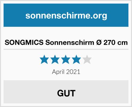 SONGMICS Sonnenschirm Ø 270 cm Test