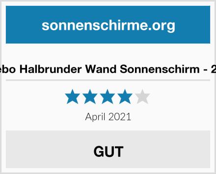 Spetebo Halbrunder Wand Sonnenschirm - 250cm Test
