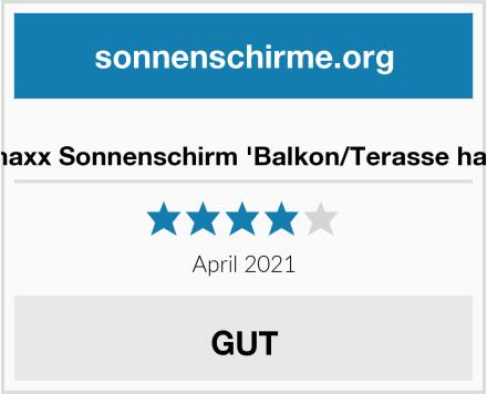 EASYmaxx Sonnenschirm 'Balkon/Terasse halbrund' Test