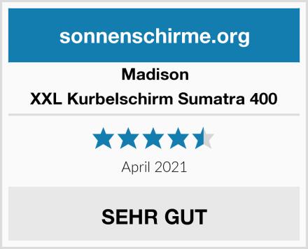 Madison XXL Kurbelschirm Sumatra 400 Test
