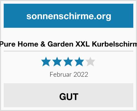 Pure Home & Garden XXL Kurbelschirm Test