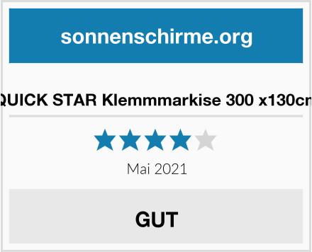 QUICK STAR Klemmmarkise 300 x130cm Test