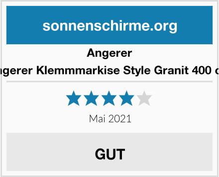Angerer Angerer Klemmmarkise Style Granit 400 cm Test