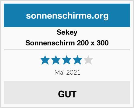 Sekey Sonnenschirm 200 x 300 Test
