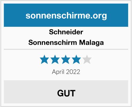 Schneider Sonnenschirm Malaga Test