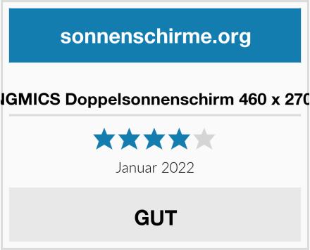 SONGMICS Doppelsonnenschirm 460 x 270 cm Test