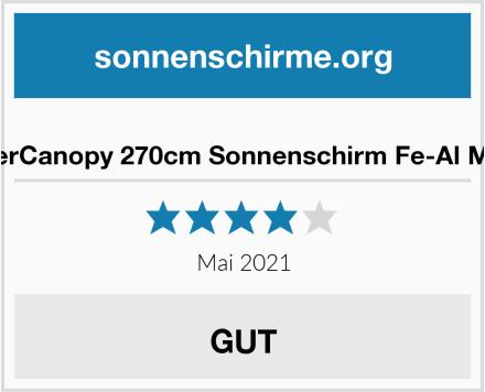 MasterCanopy 270cm Sonnenschirm Fe-Al Market Test
