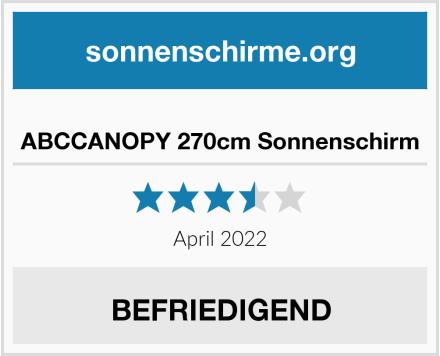 ABCCANOPY 270cm Sonnenschirm Test