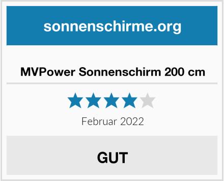 MVPower Sonnenschirm 200 cm Test