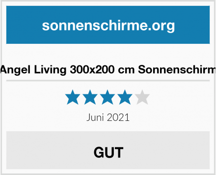Angel Living 300x200 cm Sonnenschirm Test