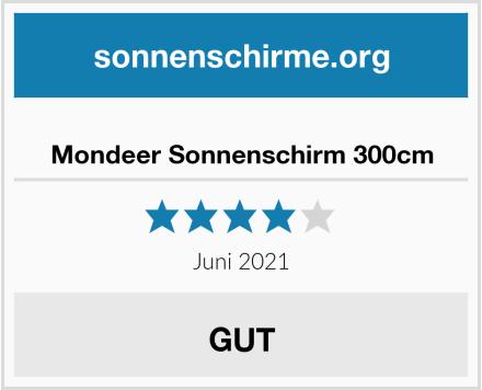 Mondeer Sonnenschirm 300cm Test