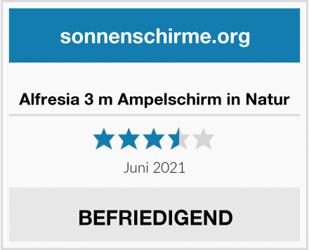 Alfresia 3 m Ampelschirm in Natur Test