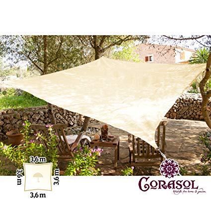 Corasol COR11SQ36-RR Premium Sonnensegel
