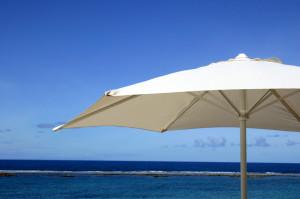 Sonnenschirm im Urlaub