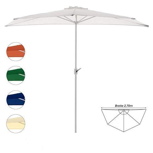 Nexos Trading Sonnenschirm Weiß halbrund