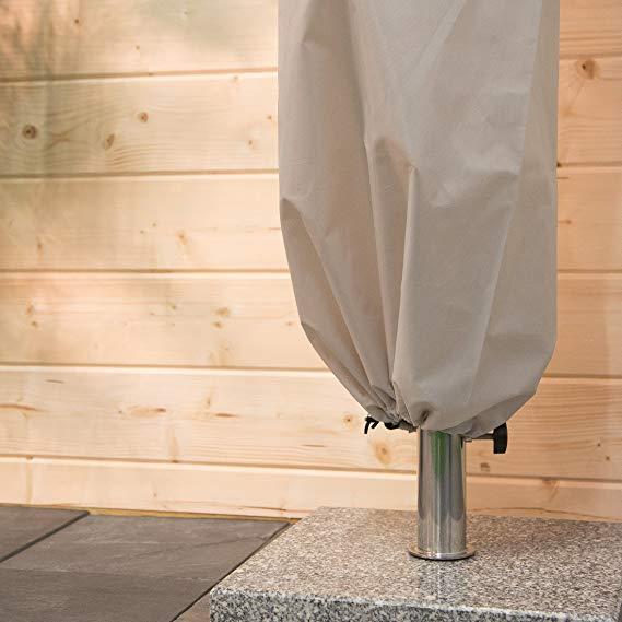 TRI Schutzhülle Abdeckhaube Ampelschirm Gartenschirm Sonnenschirm Wetterfest